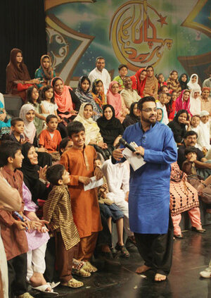Aamir Liaquat, 41, is one of Pakistan's most famous and controversial TV hosts. During the holy month of Ramadan, he broadcasts live for 11 hours a day while fasting and drawing record audiences. Back in 2008, remarks he made about a religious minority in Pakistan were followed by a wave of deadly violence. He was fired and recently rehired.