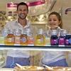 Dimitris Plassas and Georgia Ladopoulou work the yogurt bar at Fresko, which specializes in several varieties of Greek-style yogurt.