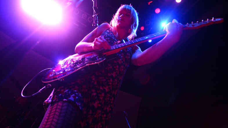 Wye Oak, performing live at the 9:30 Club in Washington, D.C.