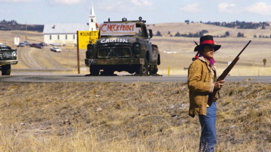 In 1973, members of the American Indian Movement occupied the town of Wounded Knee, S.D., on the Pine Ridge Indian Reservation. They were protesting the murder of an Oglala Lakota man and the failed impeachment of a tribal president that AIM members accused of corruption. The protests escalated into a deadly standoff that lasted 71 days. (AP)