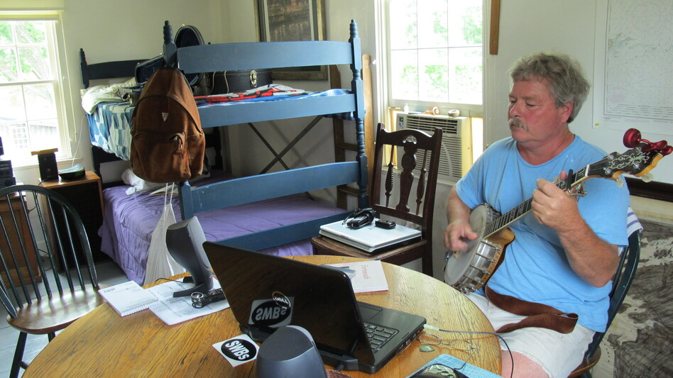 Tom Richter moved to Strawbery Banke so that he could concentrate on creating a new album of folk songs based on imagery of historic Portsmouth, N.H. (New Hampshire Public Radio)