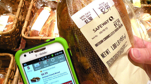 A customer using Safeway's personalized deals gets this loaf of bread for 99 cents instead of the original $4.29. (KPLU)