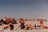 Western tourists sunbathe on a Karachi beach in the early 1960s.
