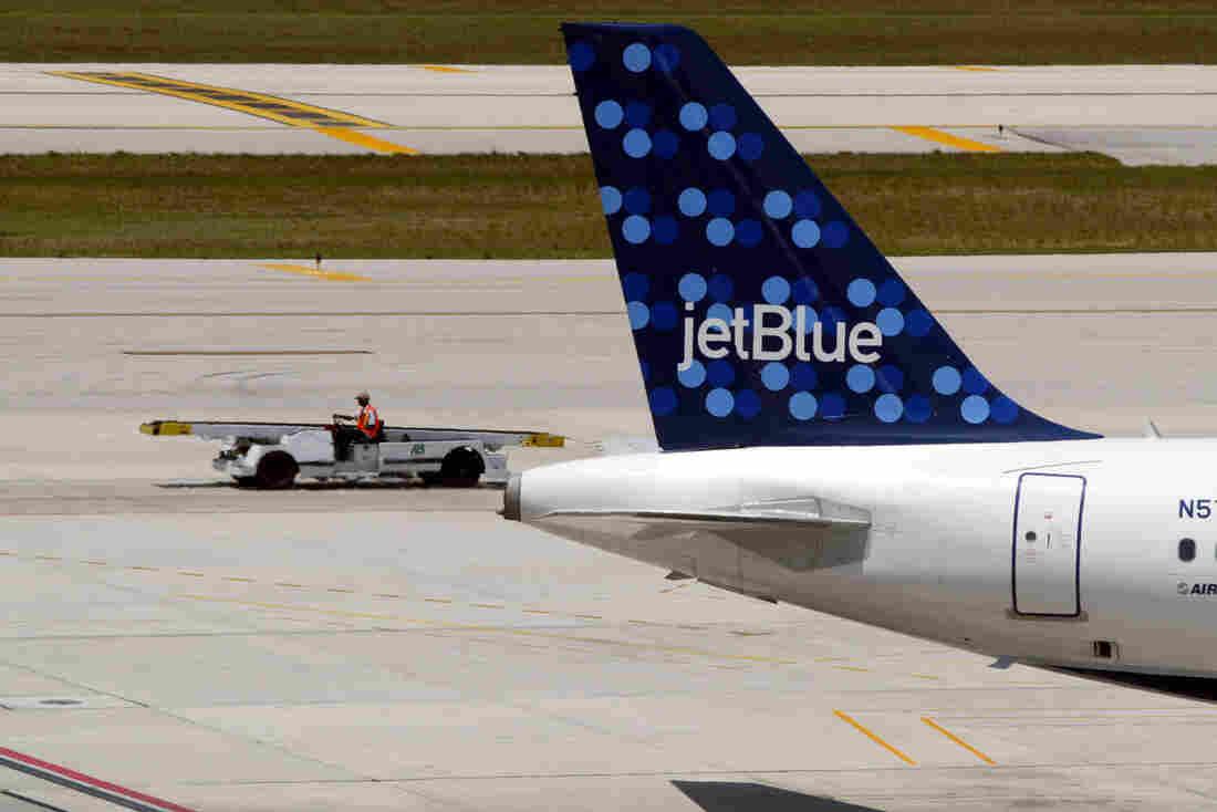 A JetBlue Airways aircraft.
