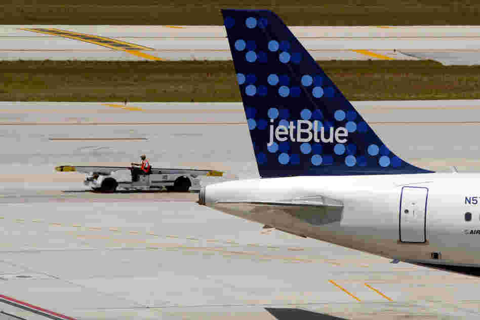 A JetBlue Airways aircraft.