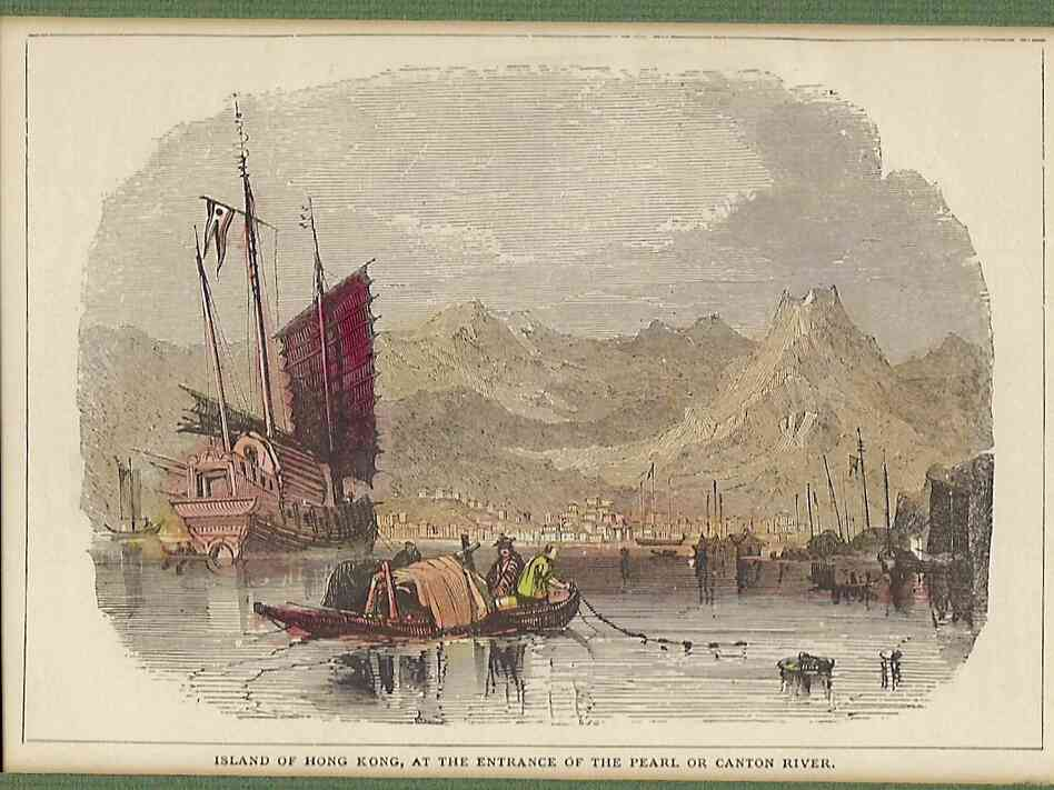 "An early picture of the island of Hong Kong. In 1841, the British Foreign Secretary Lord Palmerston criticized the deal that gave Hong Kong to the British, famously describing the island as ""a barren rock with nary a house upon it."" He predicted, ""It will never be a mart for trade."""