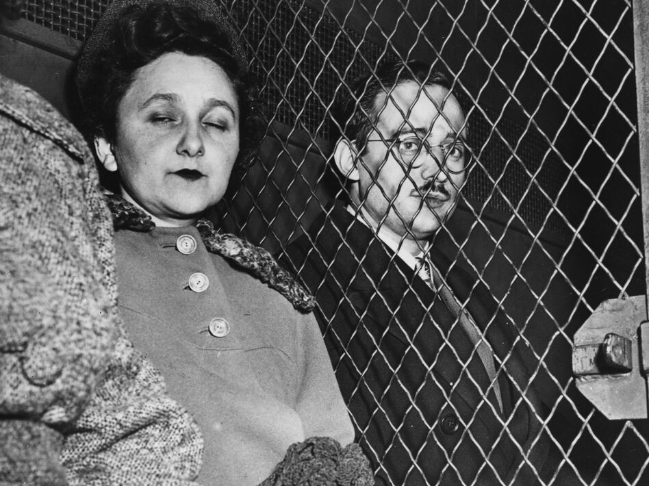 Julius and Ethel Rosenberg are taken to prison after being found guilty of nuclear espionage. They were subsequently executed. (Getty Images)