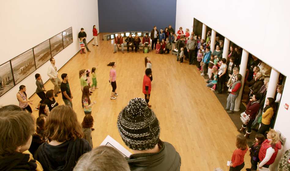 120,000 people visit MASS MoCA every year. Above, an event at the museum's Free Day in February 2012.
