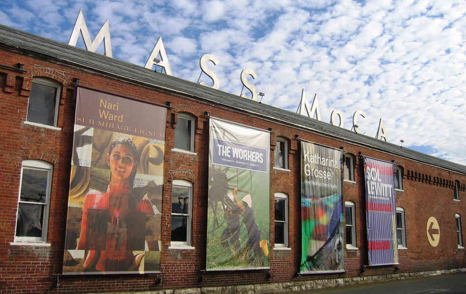 In a valley at the foot of the Berkshire Mountains, a struggling industrial town is trying to make an artistic comeback. North Adams is now home to MASS MoCA, one of the largest museums of contemporary art in the world — housed in 26 former factory buildings.