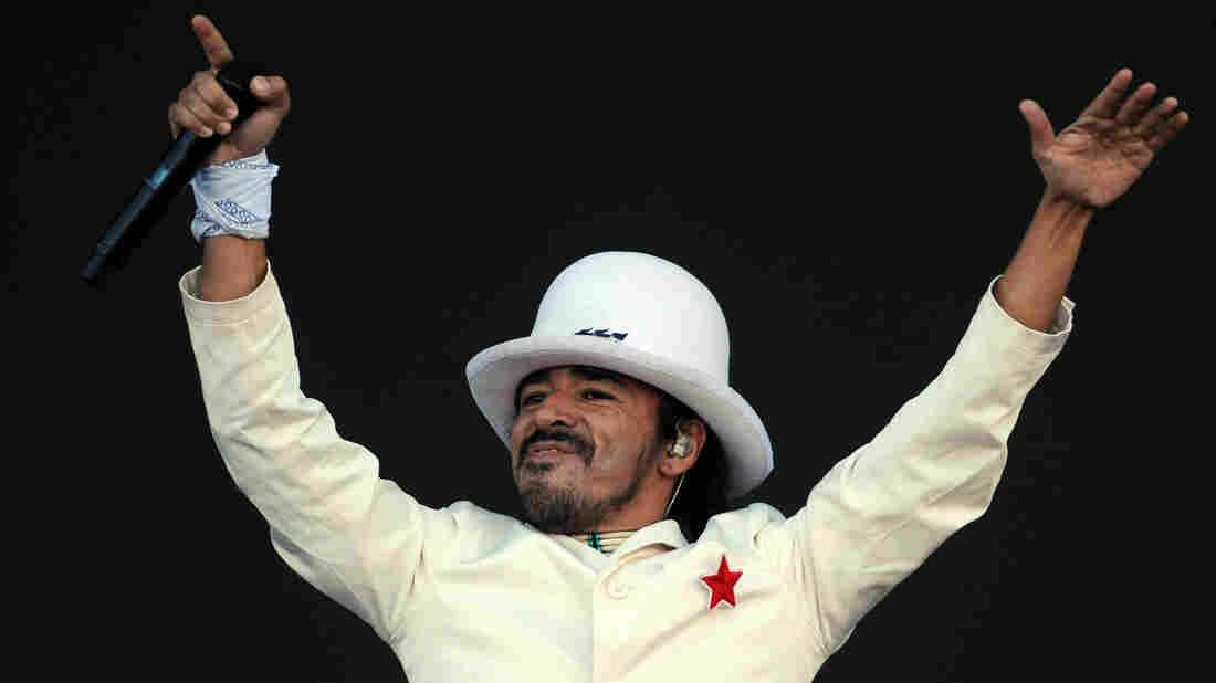 Singer of Mexican band Cafe Tacuba, Ruben Albarran.