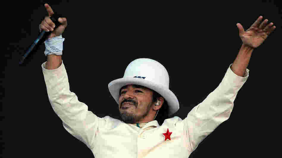 Singer of Mexican band Cafe Tacuba, Ruben Albarran.