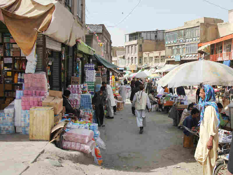 Afghanistan's economy still struggles, but years of Western assistance have helped keep markets well-stocked, like the Old City Bazaar in downtown Kabul.
