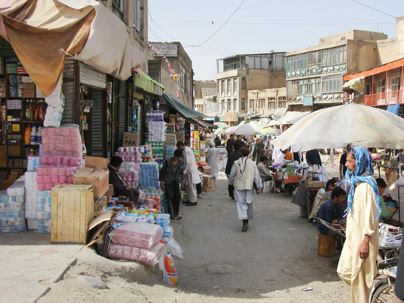 In Afghan Bazaar, U S  Goods At Bargain Prices : NPR