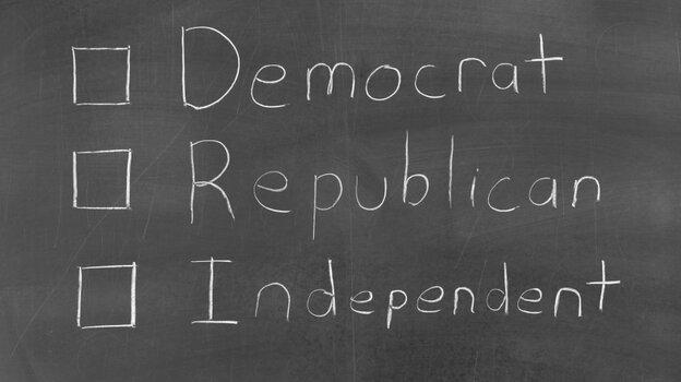 Democrat, Republican or Independent.