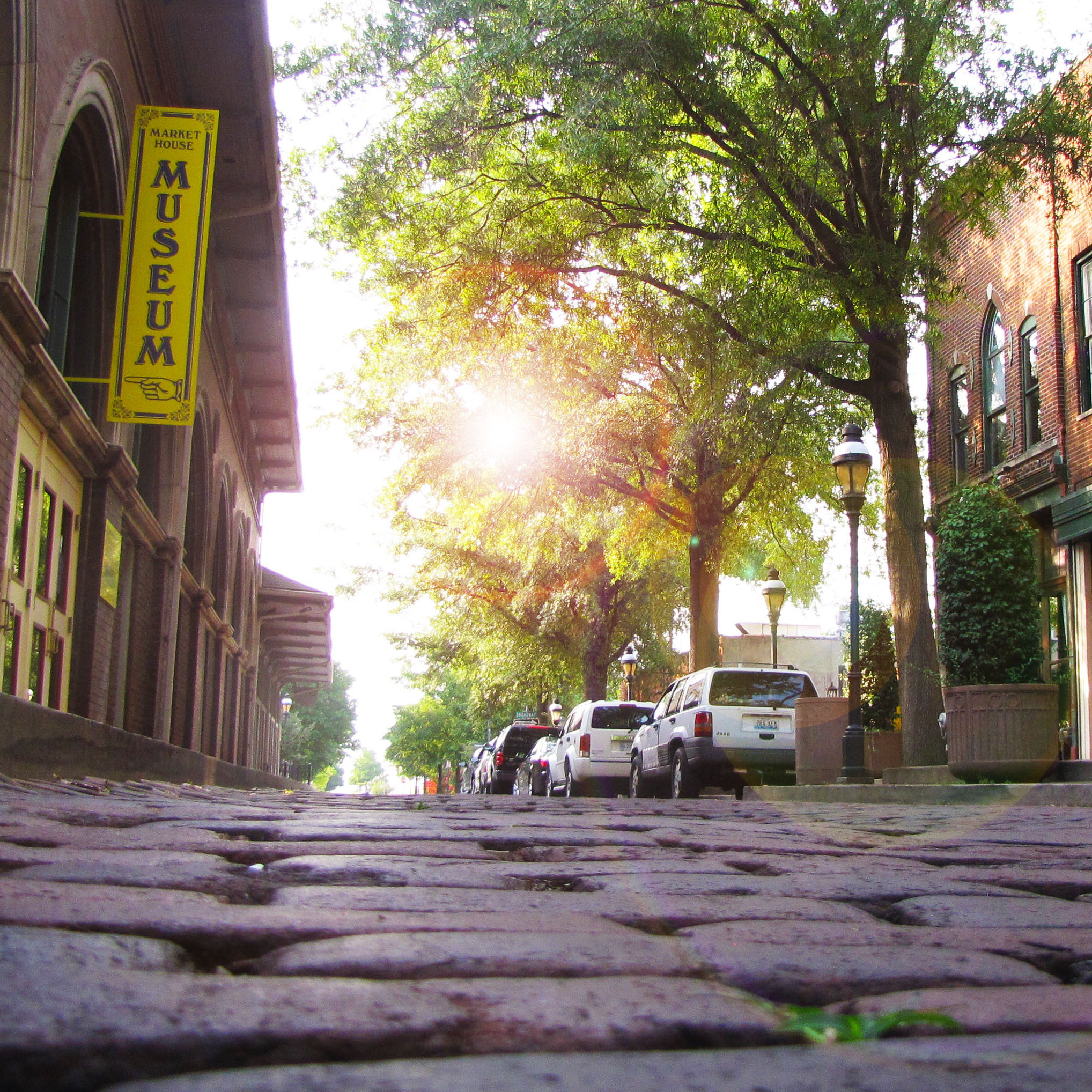Katie Graves says Market House Square in Paducah, Ky., with its cobblestone streets and buy-local attitude, epitomizes the small city's rich heritage as the confluence of old and new.