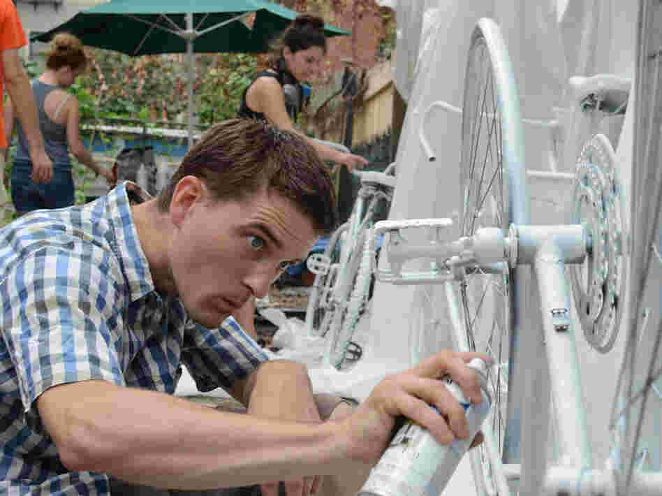 Ryan Nuckle helped found New York City's Ghost Bike Project in 2005, after three cyclists were killed in a single month.