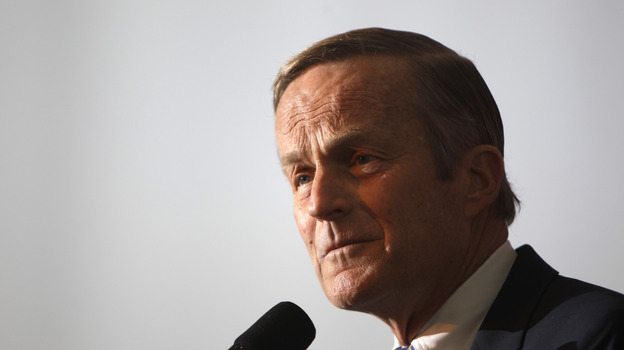 """Rep. Todd Akin, R-Mo., says Rep. Paul Ryan, R-Wis., the GOP vice presidential candidate, asked him to end his Senate bid after recent comments he made referring to """"legitimate rape."""" (AP)"""