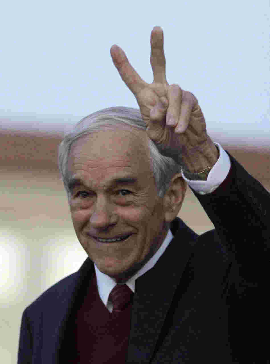 Rep. Ron Paul, R-Texas, after speaking in Berkeley, Calif., in April.