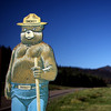 A Smokey the Bear fire prevention sign sits in Valles Caldera along Highway 4, which was one of the front lines in fighting the Las Conchas Fire in 2011.