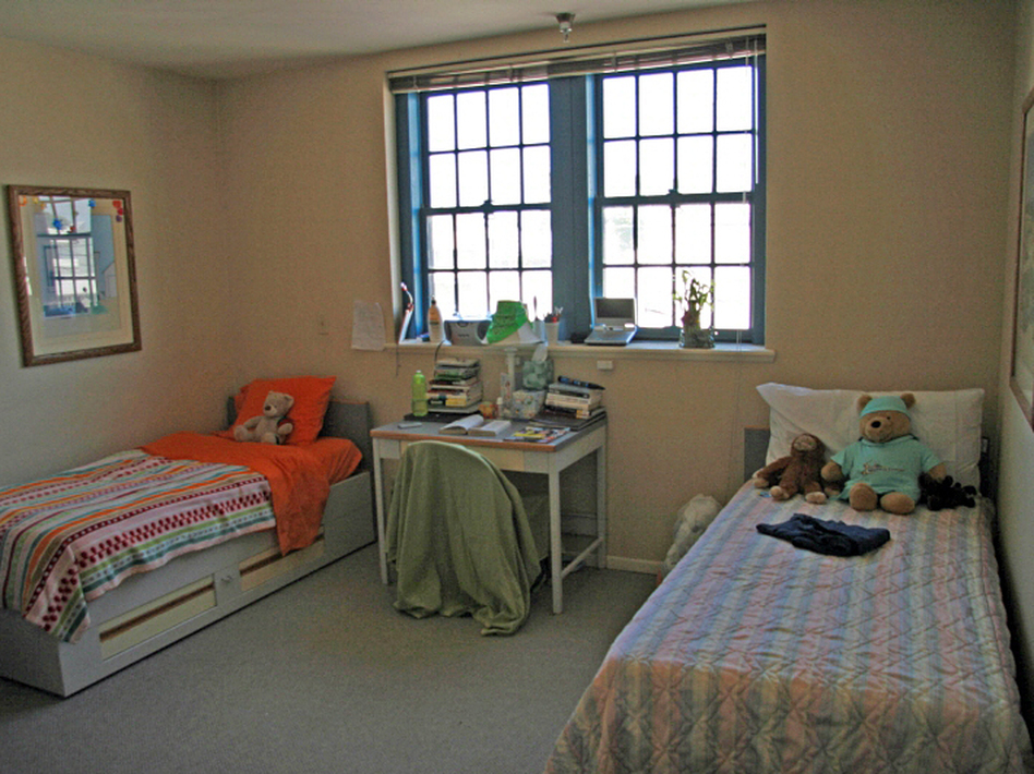 A girls' room at Children of the Night, a private group home in Los Angeles for children involved in prostitution.