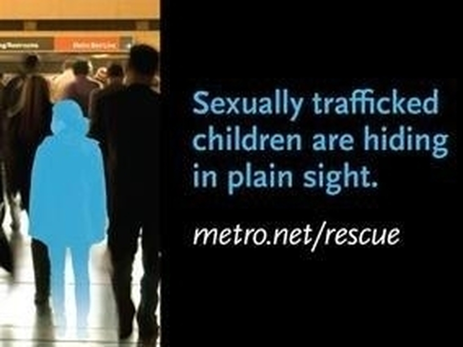 This billboard is part of a campaign to raise awareness about child sex trafficking in Los Angeles. It was launched at area bus and rail stations about four months ago. (Courtesy of LA County Metro)