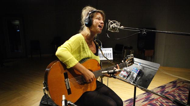 Selah Sue performs at NPR headquarters in Washington, D.C. (NPR)