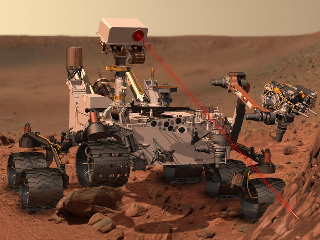This artist's rendering provided by NASA shows the Mars Rover, Curiosity.