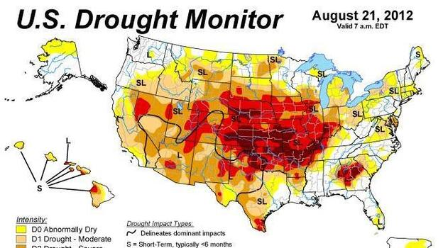 The week of Aug. 21. (National Drought Mitigation Center)