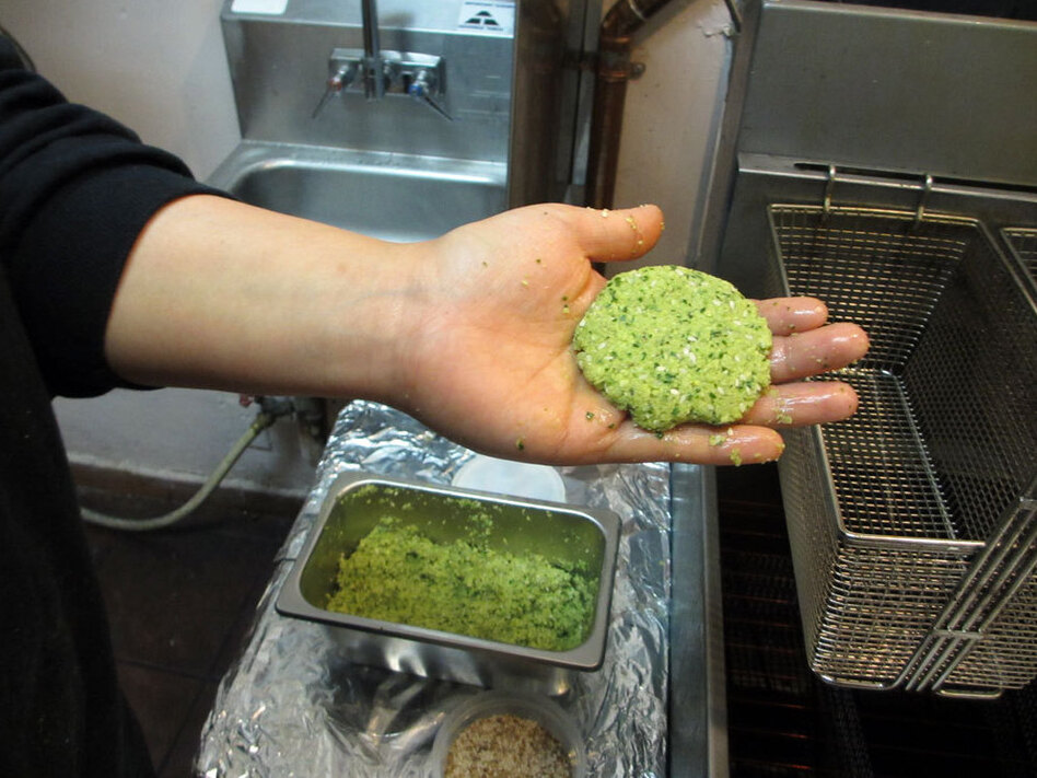 This Eqyptian-style falafel is made with fava beans, not garbanzo beans. (NPR)
