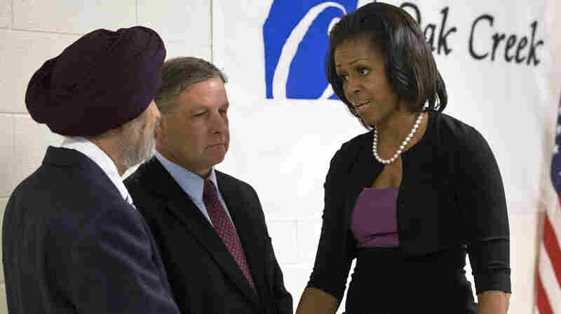 Michelle Obama Meets With Victims Of Sikh Temple Shooting