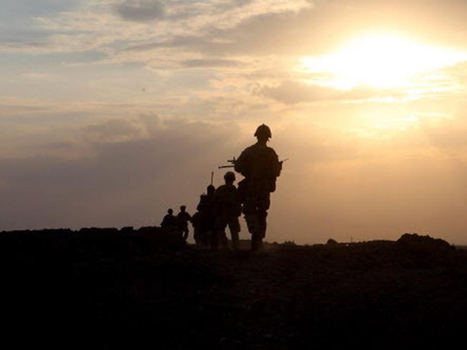 U.S. Marines with 1st Platoon, Company I, 3rd Battalion, 5th Marines (3/5), Regimental Combat Team 2, in Afghanistan. (January 2010 file photo.)