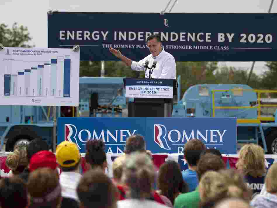 In unveiling his energy policy during a campaign event on Thursday, Mitt Romney says he wants to set a goal of North American energy independence by 2020.