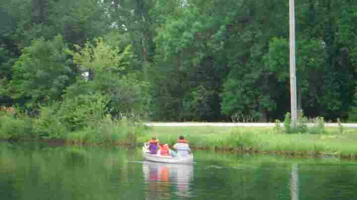 Canoeing at Camp Catch-Up.