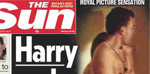 That's Harry, but not the prince: The Sun recreated the scene.