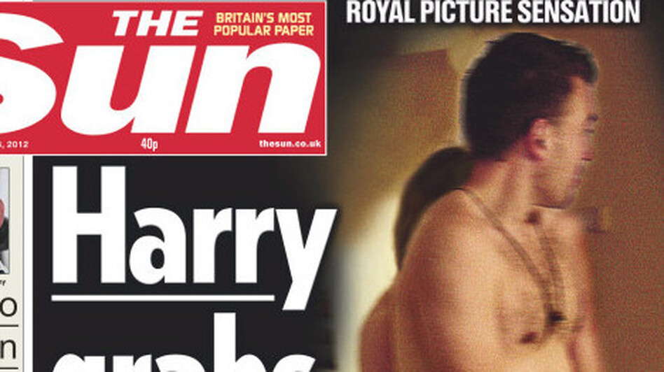 That's Harry, but not the prince: The Sun recreated the scene. (@suttonnick)