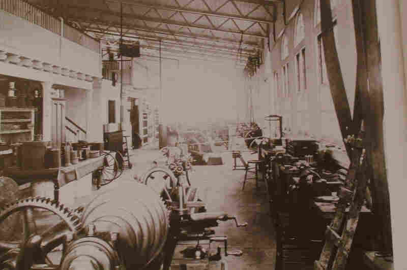 A view from inside the Wardenclyffe lab on Long Island in 1904.