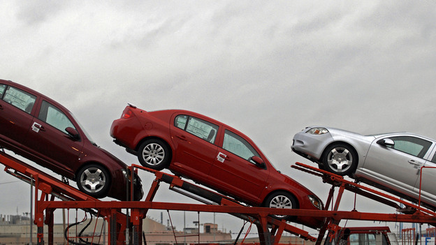 Cars at the General Motors Assembly plant in Lordstown, Ohio, in 2009. (AP)