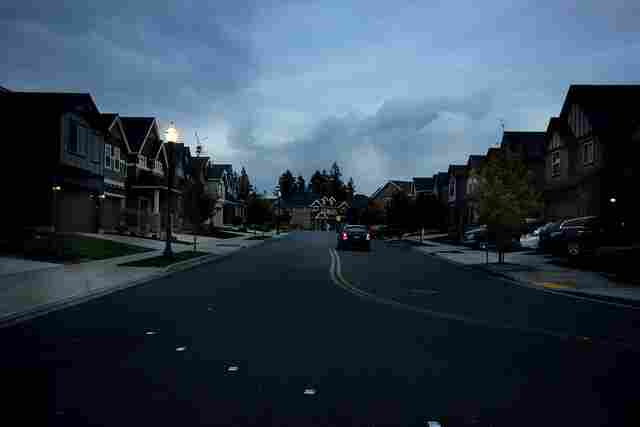 Camas, Washington: The community of Grass Valley, at night.