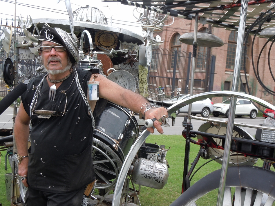 Clyde Casey has been performing on the streets of New Orleans for 40 years. (Tegan Wendland)