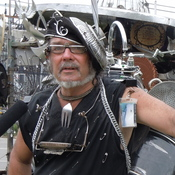 Clyde Casey has been performing on the streets of New Orleans for 40 years.