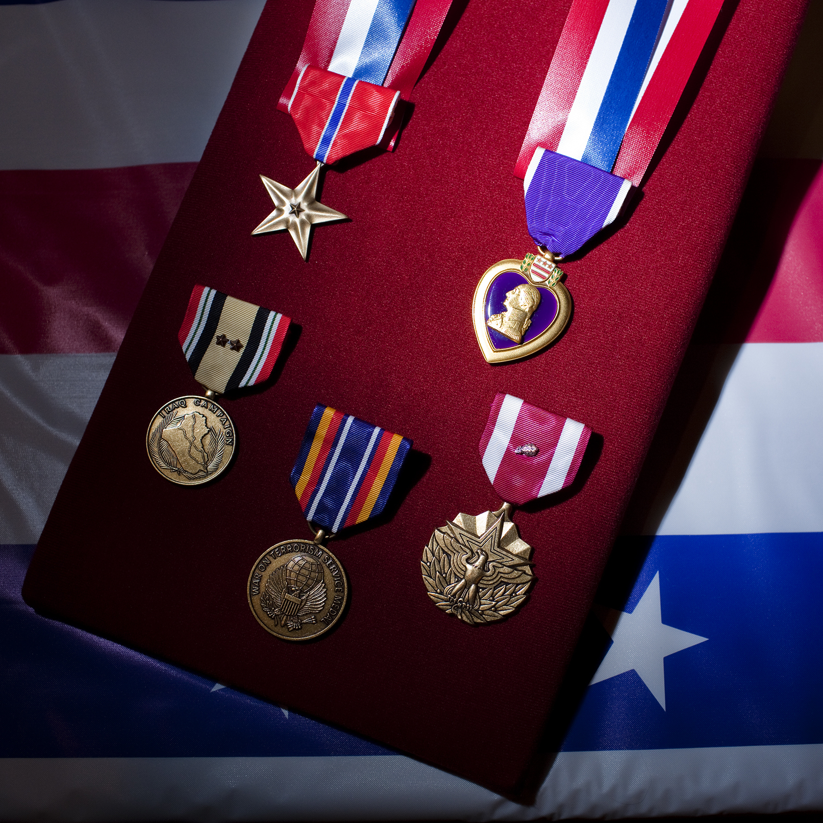 Dyarman's Army medals include a Purple Heart, Bronze Star and a service award for more than 26 years in the Army.