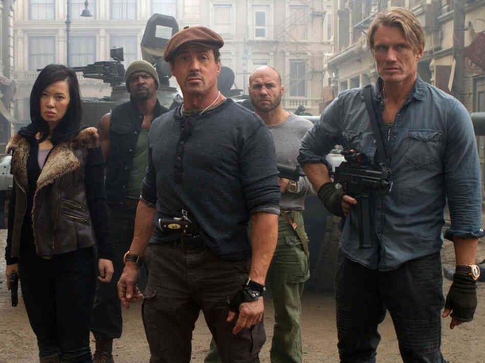 "NPR aired a review of ""The Expendables 2"" calling it a violent but thought provoking film. One listener took offense to the language used to describe its powerhouse of superstars."