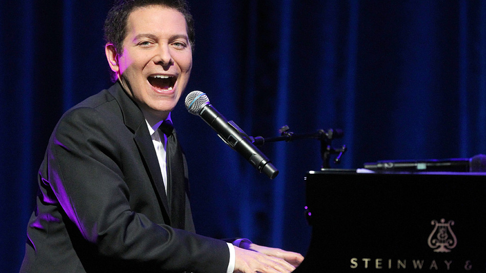 He'd better start looking to his left: Singer and pianist Michael Feinstein, who has never conducted an orchestra, is the new principal conductor of the Pasadena Pops. (Getty Images)