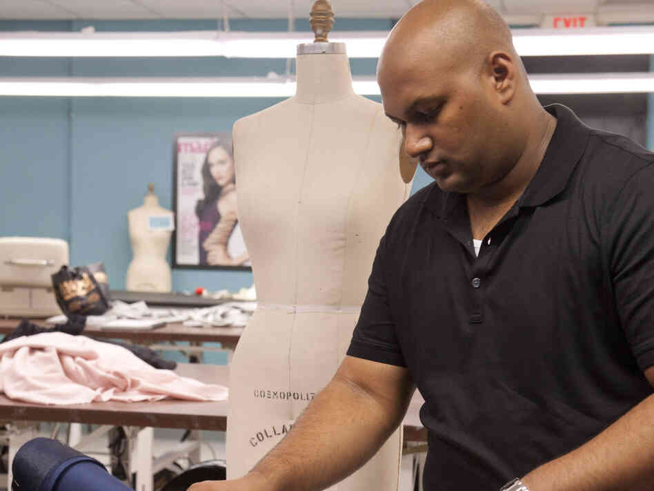 Designer Ven Budhu, seen here on a previous episode, got in big trouble on last night's Project Runway.
