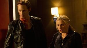 Eric Northman (Alexander Skarsgard) and Sookie Stackhouse (Anna Paquin).