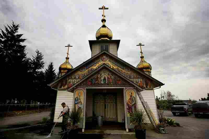 Russian Orthodox Church in Woodburn, Oregon.