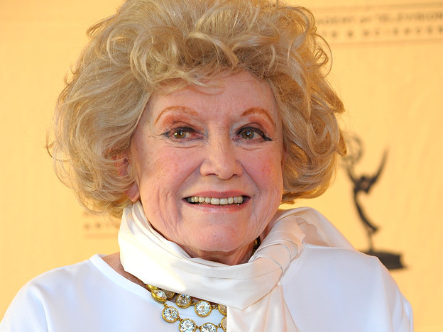 Phyllis Diller attends an Academy of Television Arts & Sciences event in North Hollywood, Calif., in 2008. The comedic legend died this week at 95. (Getty Images)