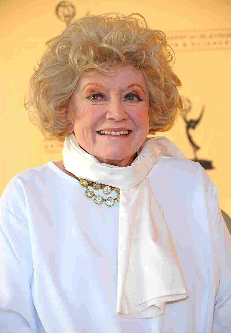 Phyllis Diller attends an Academy of Television Arts & Sciences event in North Hollywood, Calif., in 2008. The comedic legend died this week at 95.