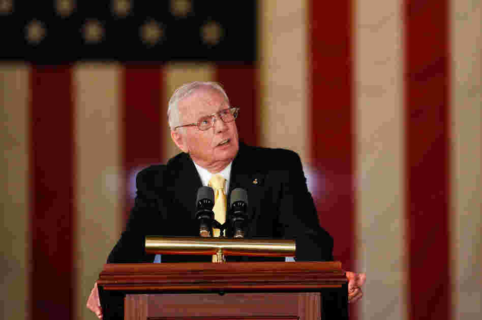 Armstrong in November 2011 at the U.S. Capitol, when he and the other astronauts from the Apollo 11 mission were awarded Congressional Gold Medals.