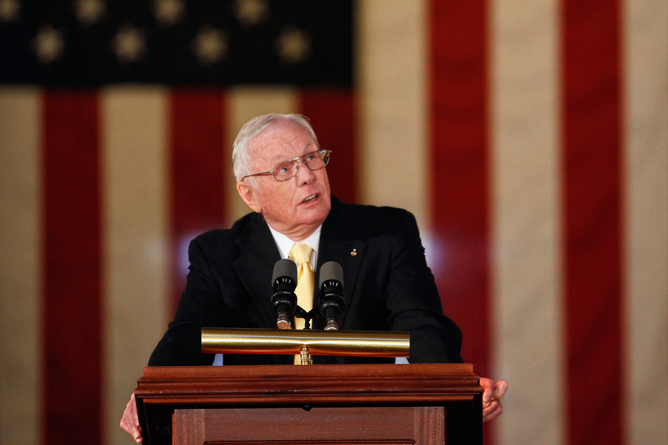 Armstrong in November 2011 at the U.S. Capitol, when he and the other astronauts from the Apollo 11 mission were awarded Congressional Gold Medals. (Getty Images)